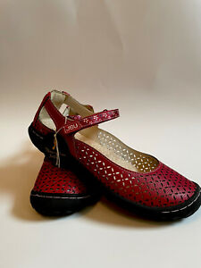 JBU by Jambu Bamboo Women's Size 8.5 M Red Leather Mary Janes Slip On Shoes NWT