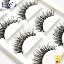 US 3D Faux Mink Fake Eyelashes Natural Thick Long Makeup False Eye Lashes Black