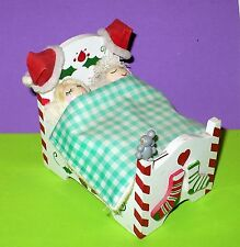 Vintage Christmas Night Before Christmas Wood Music Box Movement Heads Sf Music