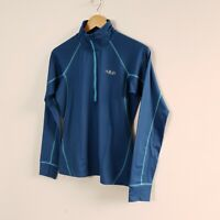 Rab Women's Flux Pull On 1/2 Zip Jumper  Sweater Blue Size 10