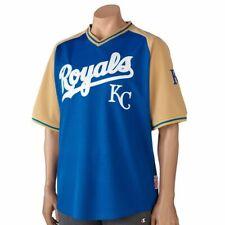 KC Royals Sewn Baseball Shirt Royal Gold Men's Medium Shirt / Jersey By Stitches