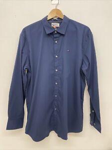 Mens Tommy Jeans Blue Smart Shirt - Size 2XL - XXL - A89