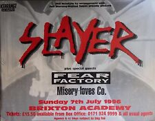 """Tour Poster~Slayer 1996 Live Fear Factory Misery Loves Co 30x40"""" Brixton London~"""