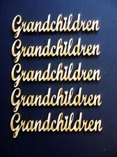 A201 Grandchildren Word 5 pack MDF Laser Cut Wooden Craft Family Tree