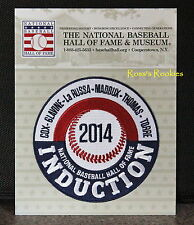 2014 HALL OF FAME MLB INDUCTION PATCH - MADDUX GLAVINE COX TORRE THOMAS LARUSSA