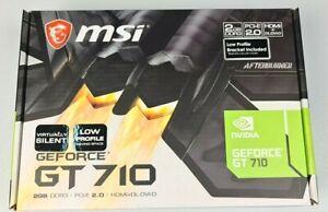 MSI GeForce NVIDIA (2 GB) (GT710) 2GB DDR3 Graphics Card (GT 710 2GD3H LP)