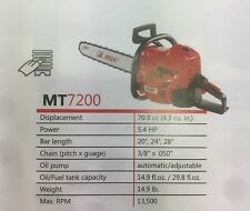 """efco MT7200-24 Chainsaw with 24"""" bar (Professional)"""