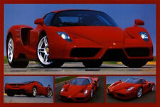 FERRARI - TRIBUTE TO ENZO - SPORTS CAR POSTER 24x36 - COLLAGE 3787