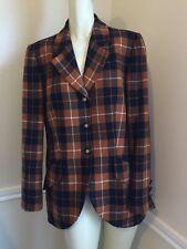 Women's Sz: 10 Louis Feraud Wool Plaid Blazer #3