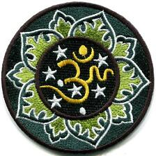 Hindu aum om infinity lotus retro yoga trance applique iron-on patch new S-1103