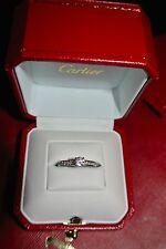 CARTIER Solitaire 1895 Pave Engagement Ring Platinum 0.44ct E VVS2 GIA Certified