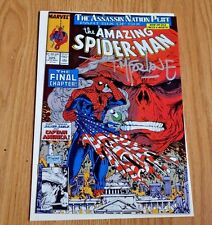 The Amazing SPIDER-MAN #325 (Late Nov 1989, Marvel Comics) Cpt America,Red Skull