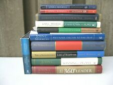Lot 10 John C Maxwell Books + 1 CD Set All Hardcovers Leadership + Motivation