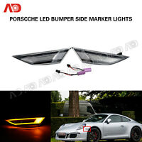 Clear LED Side Marker Light For Porsche 991 Carrera Gts 981 Cayman Boxster 718