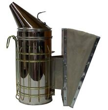 Bee Hive Smoker Stainless Steel W Heat Shield Beekeeping Equipment NEW FREE SHIP
