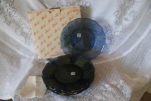 Set of 4 Princess House Blue Fantasia Salad Plates NIB