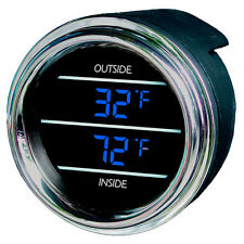 Teltek Inside Outside Auto Thermometer Gauge for Kenworth 2005 or previous