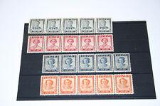 Southern Rhodesia (Zimbabwe) 1946 Victory Issue Set, George VI (5 Block) MNH