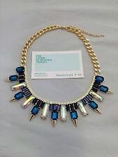 Wanderlust + Co. Multi-Spike Baguette Crystal Necklace 14-18k Gold Plating