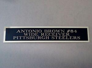 "Antonio Brown Football Card Plaque Or Display Case Nameplate Steelers 1.25"" X 6"""
