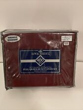 Royal Velvet Full/Queen Duvet Cover Set. Wrinckle Resistant. Bed Bath and Beyond