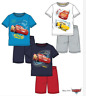 Disney Cars Schlafanzug Jungen kurzarm Pyjama blau weiß 98 104 110 116 128 NEU