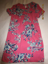JOULES Pink & Blue Floral Camelia Tunic Dress Size 8 (#128)
