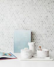 Carrara White Marble Penny Round Mosaic Floor / Wall Tiles ONLY $175.00 m2