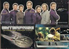 STAR TREK: ENTERPRISE SEASON 1 RITTENHOUSE 2002 COMPLETE 81 CARD BASE SET + WRAP