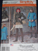 Arkivestry Steampunk Costume Misses Size 14-22 Simplicity 1299 Sewing Pattern
