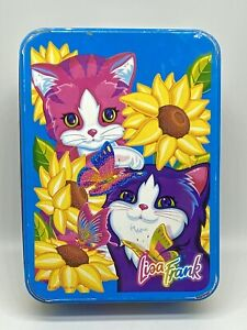 Lisa Frank Sunflower Kittens Collector Tin Playtime Vintage 90s Metal Box Empty