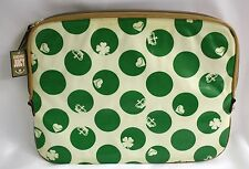 Juicy Couture Laptop Case Padded Kelly Green Dots Crowns RET 98 NWTS