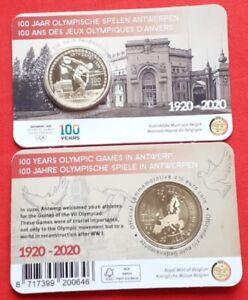 "Belgium 2.50 euro 2020 ""Olympics Games Antwerp 1920"" BU"