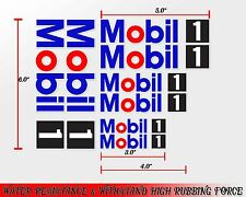 1 SET MOBIL 1 RACING OIL AUTO LUBE DECALS STICKER PRINTED DIE-CUT COMPUTER MOTOR