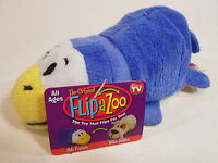 "Little 5/"" FLIPZEES Flipazoo Stuffed Animal Zazu Zebra Henny Hippo New"