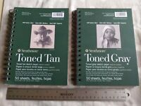 Strathmore Toned Tan & Gray LOT Sketchbook sketch pad paper Medium 5.5 x 8.5""