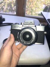 Vintage Minolta SrT102 Camera With 2 lenses and teleconverter