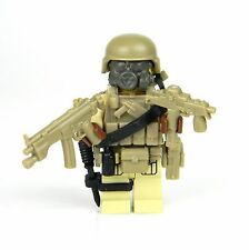 Tan Commando Army Soldier Minifigure (SKU80) made with real LEGO® minfigure