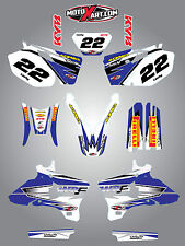 Yamaha WRF 450 - 2005 2006 stickers Full  Custom Graphic  Kit - SHOCKWAVE style