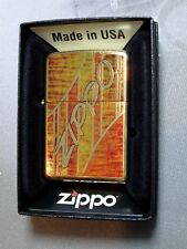 "Zippo  ""GEOMETRIC"" - Brass high polished - NEU & ovp - #621"