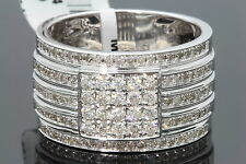 10K WHITE GOLD 1.18 CARAT MENS REAL DIAMOND ENGAGEMENT WEDDING PINKY RING BAND