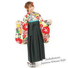 Japanese Hakama Kimono Women Andon-Green  Brand New