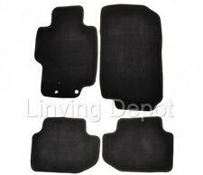 FIT FOR 03-07 Honda Accord 2 4Dr Floor Mats Carpet Front & Rear Nylon Black 4PC