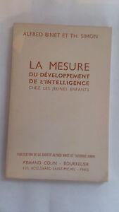 Binet & Simon - La mesure du développement de l'intelligence chez l'enfant