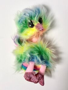 "2019 TY Beanie Baby 6""   ASHA Rainbow Ostrich Plush Stuffed Animal New"