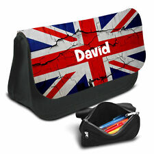 UK Flag Personalised Pencil Case Game School Bag Kids Stationary - 06