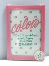 Nos Vintage 80s Decorel colors Picture Frame Miniature Easel Back Fairy Kei Kai