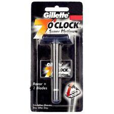 Gillette 7O' Clock Super Platinum Razor +2 Blade | Smoother Shave - 1pc