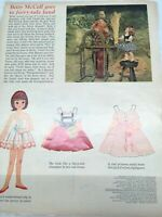 1962 VINTAGE BETSY MCCALL GOES TO FAIRY TALE LAND PAPER DOLLS UNCUT UNUSED