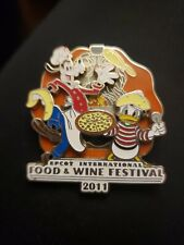 New ListingDisney Pin Epcot Food & Wine Festival 2011 Goofy Donald Pizza Limited Ed of 4000